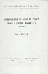 Correspondance du nonce en France Ranuccio Scotti: 1639-1641