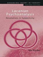 Lacanian Psychoanalysis PDF
