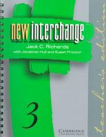 New Interchange Teacher s Edition 3 PDF