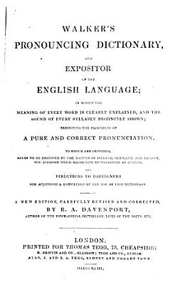 Pronouncing Dictionary and Expositor of the English Language PDF