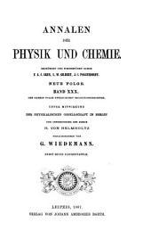 Annalen der Physik und Chemie: Band 30