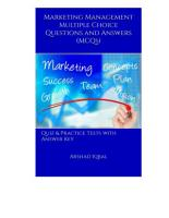 Marketing Management Multiple Choice Questions and Answers  MCQs  PDF