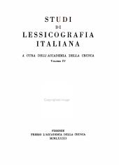 Studi di lessicografia italiana PDF