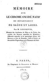 Mémoire sur le chrome oxydé natif du département de Saône et Loire