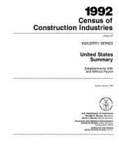 1992 Census of Construction Industries: Industry series, Volume 27