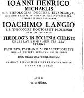 Commentatio theologica de analogia fidei
