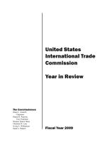 United States International Trade Commission  2009 Year in Review PDF
