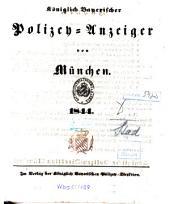 Königlich Bayerischer Polizey-Anzeiger von München: 1844