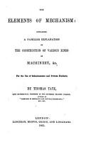 The Elements of Mechanism  Etc PDF