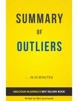 Outliers  by Malcolm Gladwell   Summary   Analysis PDF