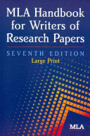 Download MLA Handbook for Writers of Research Papers Book