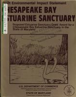 Chesapeake Bay Estuarine Sanctuary  Grant PDF