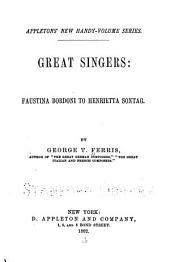 Great Singers: Volume 1