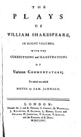 The Plays of William Shakespeare in Eight Volumes PDF