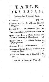 Oeuvres Philosophiques: Traduits De L'Anglois. Tome Premier Contenant Les huits Premiers Essais sur l'Entendement Humain, Volume1