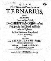 Positionum practicarum ternarius