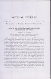 Notes on the Geology and Paleontology of the Cape May Canal, New Jersey ...
