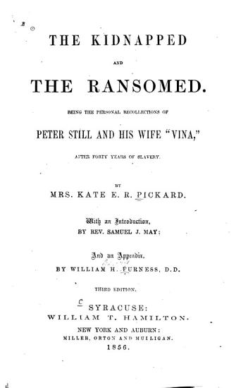 The Kidnapped and the Ransomed PDF