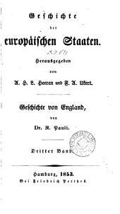 Geschichte von England, von J.M. Lappenberg (R. Pauli, M. Brosch).