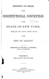 Proceedings and Debates of the Constitutional Convention of the State of New York: Volume 2