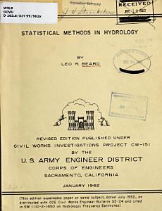Statistical Methods in Hydrology PDF