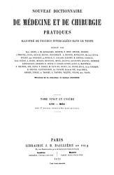 Nouveau Dictionnaire de m  decine et de chirurgie pratiques illustr   de figures intercal  es dans le texte PDF