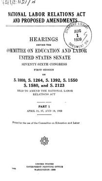 National Labor Relations Act and Proposed Amendments PDF