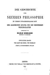 Bd. Von Kant bis Hegel und Herbart