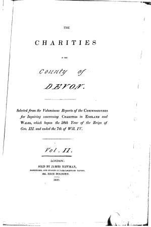 The Charities in the County of Devon PDF