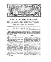 Nouvelles ecclésiastiques, ou Mémoires pour servir à l'histoire de la constitution Unigenitus. [Another set]. 1797-24 mai 1803