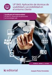 Aplicación de técnicas de usabilidad y accesibilidad en el entorno cliente. FCD0210