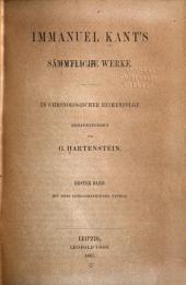 Immanuel Kant's sämmtliche werke: Bd. Schriften, 1747-1756