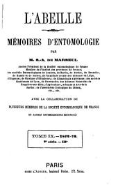 L'Abeille: journal d'entomologie, Volume 9