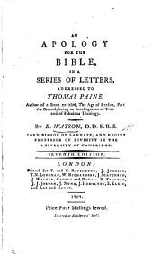 An Apology for the Bible ... Seventh edition