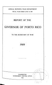 Annual Report of the Governor of Porto Rico