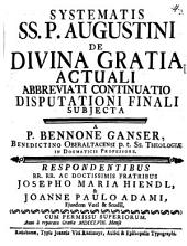 Systematis SS. P. Augustini de divina gratia actuali abbreviati continuatio