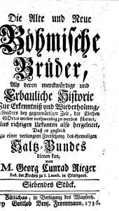 """""""Die"""" Alte und Neue Böhmische Brüder: Band 7"""