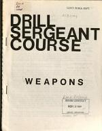 Drill sergeant course