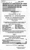 Departments of Labor  Health and Human Services  Education  and Related Agencies Appropriations for 2003 PDF