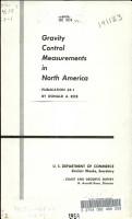 Gravity Control Measurements in North America PDF