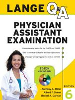 Lange Q A Physician Assistant Examination  Sixth Edition PDF