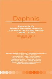 Daphnis, Band 40 – 2011, Heft 3-4.: Ausgaben 3-4