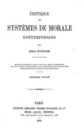 Critique des systèmes de morale contemporains