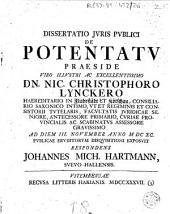 Dissertatio juris publici de potentatu