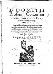 L. Domitii Brusonii Contursini Lucani facetiarum exemplorumque Libri VII