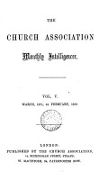 The Church Association Monthly Intelligencer PDF
