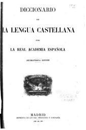 Diccionario de la lengua castellana