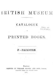 Catalogue of Printed Books in the Library of the British Museum: Volume 16