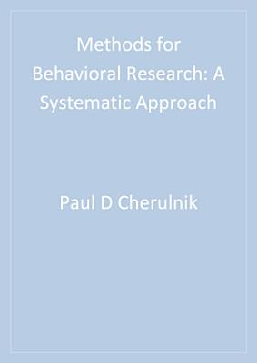 Methods for Behavioral Research
