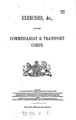 Exercises   c   for the Commissariat and transport corps